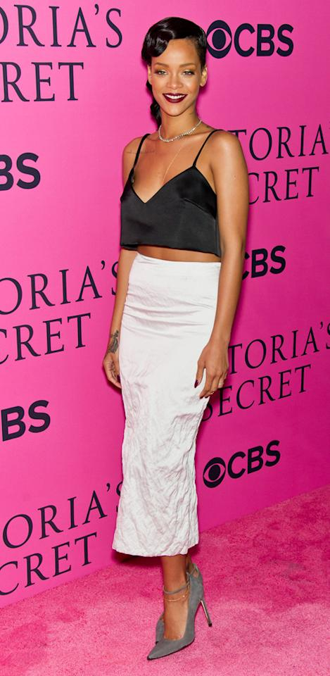 NEW YORK, NY - NOVEMBER 07:  Singer Rihanna attends the 2012 Victoria's Secret Fashion Show at the Lexington Avenue Armory on November 7, 2012 in New York City.  (Photo by Gilbert Carrasquillo/FilmMagic)