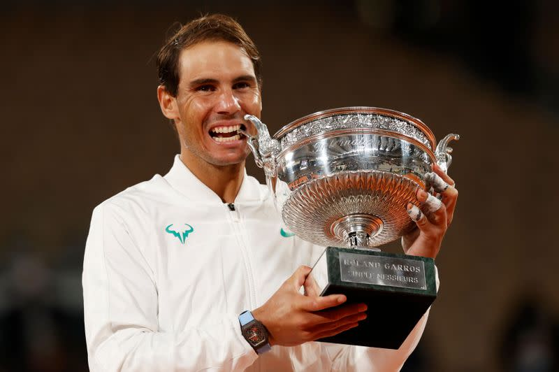 King Nadal continues Paris reign with record-equalling 20th Slam