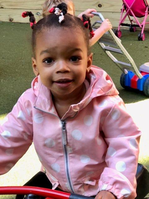Amara Pulliam, 2, plays at Learning Grove's East Walnut Hills child care center.