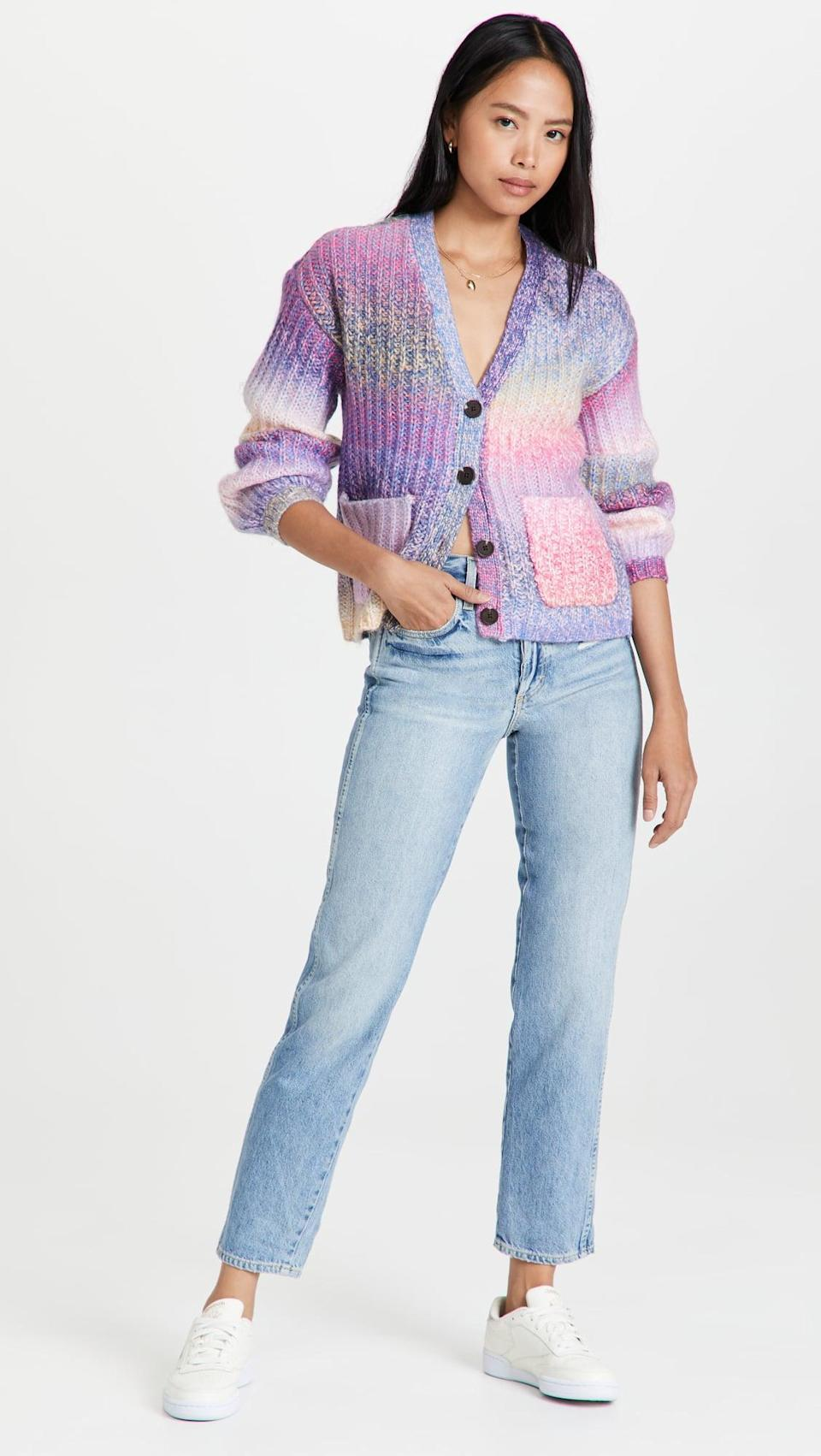 <p>How cute is this <span>BB Dakota Knit Right In Sweater</span> ($109)? The vibrant, multicolored sweater is so fun.</p>