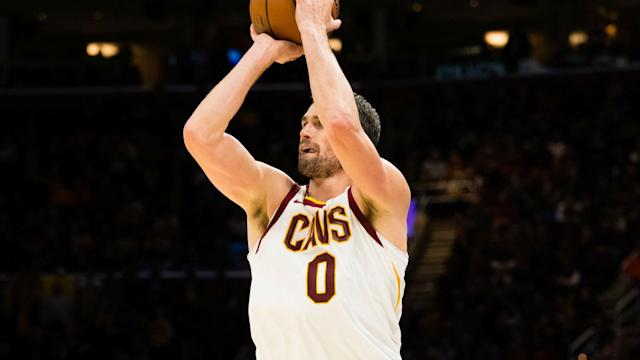"Rather than putting <a class=""link rapid-noclick-resp"" href=""/nba/players/4391/"" data-ylk=""slk:Kevin Love"">Kevin Love</a> on the trade block, the <a class=""link rapid-noclick-resp"" href=""/nba/teams/cle"" data-ylk=""slk:Cavs"">Cavs</a> decided to lock him up for four more years."