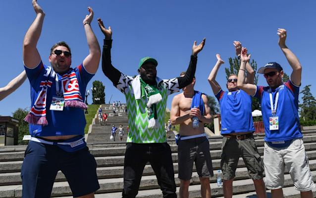 Nigeria vs Iceland, World Cup 2018 Group D clash, kicks off at 4pm on BBC 1 You are the VAR: Think you can do better than the World Cup referees? Test yourself here Get Telegraph Football WhatsApp for in-match analysis and talking points throughout the World Cup Betting guide: predictions and tips for Nigeria v Iceland > 3:52PM Permutations If Iceland win, they will be one point away from the second round and Nigeria will be out. Argentina will be very, very close to elimination. Draw and all three teams mentioned about will remain within one point of each other, with everything to play for in the final game. If Nigeria win they will jump above Iceland into second place in Group D. All three will still be in with a chance of qualifying for the second round. 3:48PM Huh? Iceland fans inside the stadium Credit: Getty images 3:35PM The kit we've all been waiting to see Nigeria will play in this jazzy number tonight, and everyone loves it. Credit: getty images Almost everyone, I should say. Here's Thom Gibbs ranking the World Cup kits. Let's just say he's not a fan. World Cup kits ranked 3:23PM DROPPED Arsenal man Alex Iwobi had a quiet game in Nigeria's opener against Croatia and hasn't made the starting lineup today. I'm sure we'll see something of him later, though. No Alex Iwobi today Credit: Getty images 3:11PM Some pre-match VAR fun test - do not delete 3:04PM Ch, ch, ch, chaaaanges Iceland Gone from 4-4-1-1 to two up front, with striker Bodvarsson coming in for centre-mid Hallfredsson Gislason also replaces Burnley's Joey Gudmundsson on the right side of midfield. Team in full (4-4-2): Halldorsson; Saevarsson, Arnason, R Sigurdsson, Magnusson; Gislason, G Sigurdsson, Gunnarsson, Bjarnason; Finnbogason, Bodvarsson Nigeria Omeruo comes in for Shehu at right-back, Ahmed Musa replaces Alex Iwobi, and Iheanacho in comes in for Ighalo up front. Team in full (3-5-2): Uzoho; Omeruo, Ekong, Balogun; Moses, Ndidi, Mikel, Etebo, Moses; Musa, Iheanacho 2:54PM The teams are in �� This is how we start the game against Nigeria.#fyririslandpic.twitter.com/pDAn99SxMF— Knattspyrnusambandið (@footballiceland) June 22, 2018 .@NGSuperEagles XI vs #Iceland#SoarSuperEagles#NGA#WorldCup#NGAISLpic.twitter.com/zFRfmXH5TL— ���� Super Eagles (@NGSuperEagles) June 22, 2018 2:46PM Pre-match predictions Have a go on our forecaster to see who will come out on top today after you've given extra weight to the factors you consider most important. World Cup 2018 Simulator Single Game I've gone for 1-0 to Iceland in the office World Cup predictions game. It's probably also worth me pointing out that I haven't got a single correct score right so far in the entire competition. So, put all your money on a Nigeria win*. [*Don't actually do this.] 2:31PM What an opportunity Group D was very early on dubbed the 2018 World Cup's 'Group of Death', but who could have predicted it would be Argentina whose hopes would be all-but killed off at this early stage? A 1-1 draw with Iceland last Saturday was followed by defeat to Croatia last night to leave the group looking mightily open at the halfway stage: And so, Iceland versus Nigeria now takes on a whole lot more significance than we would have expected. The Scandanvians, so impressive in beating England at Euro 2016 and taking a point off Argentina, can almost subject Lionel Messi and co. to elimination if they win today. Three points against Nigeria would leave them needing only a point against Croatia next week to progress. And these two teams' performances in their first game give every reason to believe that an Iceland win is the most likely result. I was really impressed by them against Argentina. Not only their endeavour, work rate, aggression and togetherness, but going forward they showed real quality and composure in the final third. Nigeria, on the other hand, are just so clearly lacking in creativity that I am struggling to see how they will break Iceland down. Against England in their World Cup warm-up friendly, they looked lost for most of the game, and they never really got going against Croatia, either. Victor Moses and Alex Iwobi play out wide, but both need a ball-playing midfielder to find them in space for them to work their magic at club level. They simply aren't creative enough on their own. Then there's the fact that John Obi Mikel is still their No 10. Something is not right.
