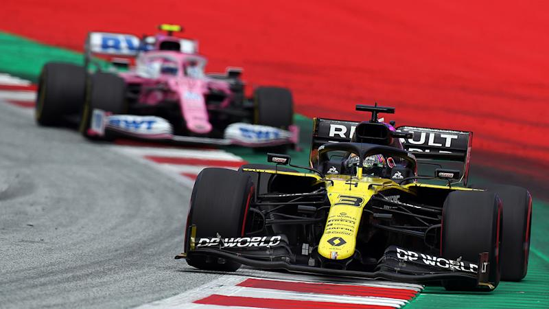 Daniel Ricciardo and Lance Stroll, pictured here racing at the Styrian Grand Prix.