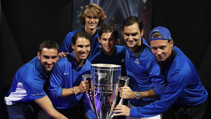 The European team that won the 2017 Laver Cup. Pic: Getty