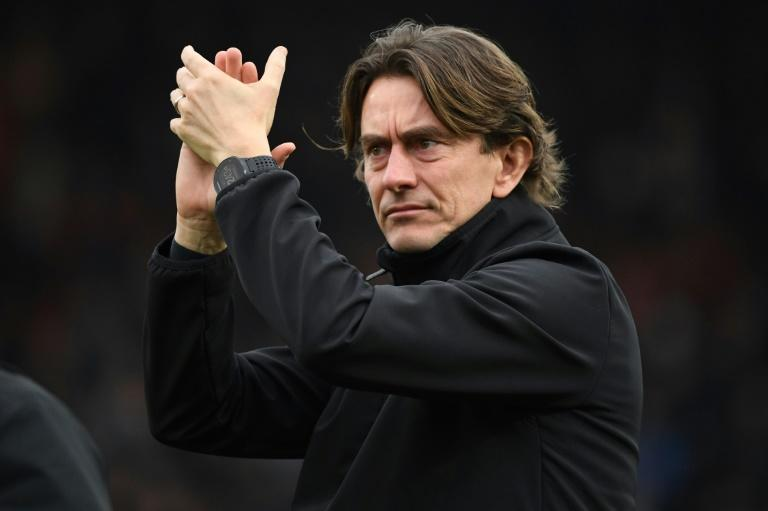 Brentford manager Thomas Frank fell just short in his bid to end the club's 73-year wait to return to the top-flight (AFP Photo/DANIEL LEAL-OLIVAS)