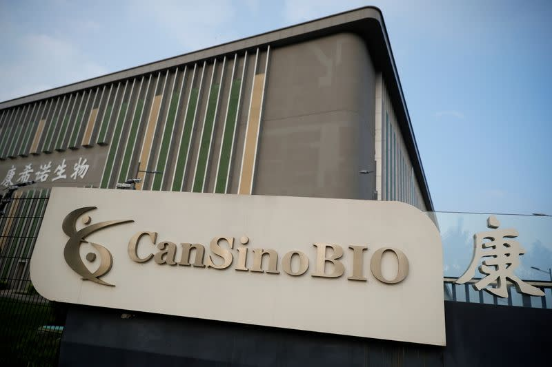 FILE PHOTO: China's vaccine specialist CanSino Biologics Inc in Tianjin