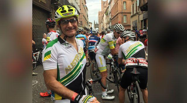 Lawyer James Sloan was cycling with nine others when the truckie overtook. Photo: Supplied/ James Sloan