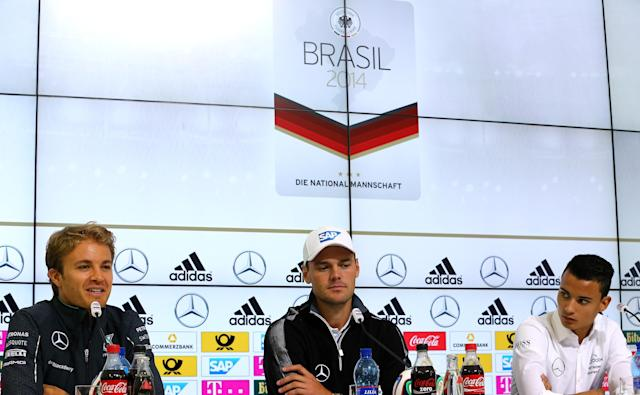 Mercedes promo shoot at Germany's training camp ends in car accident that injures two people