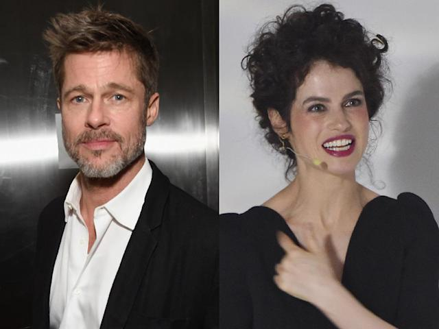 Brad Pitt and Neri Oxman (Photos: Getty Images)