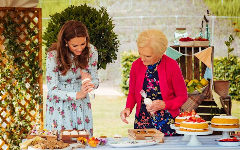 Mary Berry joined the Duke and Duchess of Cambridge on a number of royal visits for the BBC1 programme A Berry Royal Christmas - PA