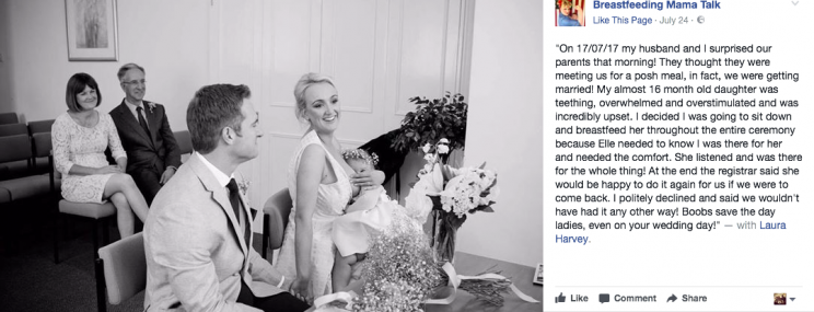 The image has been liked more than 3.4K times [Photo: Facebook/Breastfeeding Mama Talk]