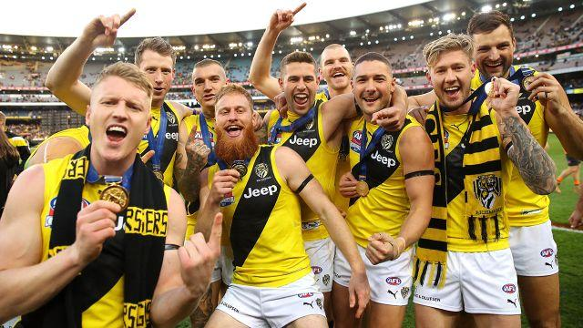 Winners are grinners. Image: Getty
