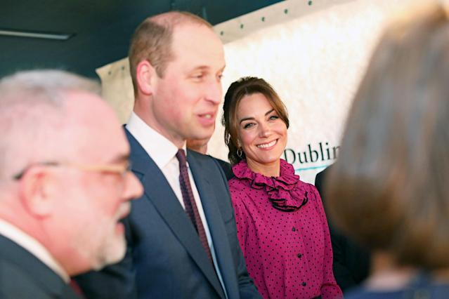 The duke and duchess at the reception in the Museum of Literature. (Department of Foreign Affairs and the British Embassy)