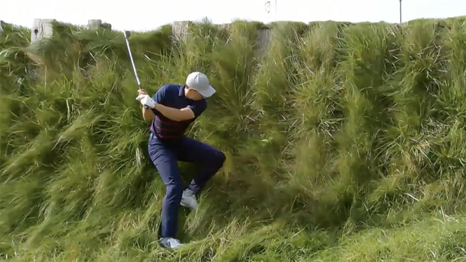 Jordan Spieth, pictured here in action at the Ryder Cup.