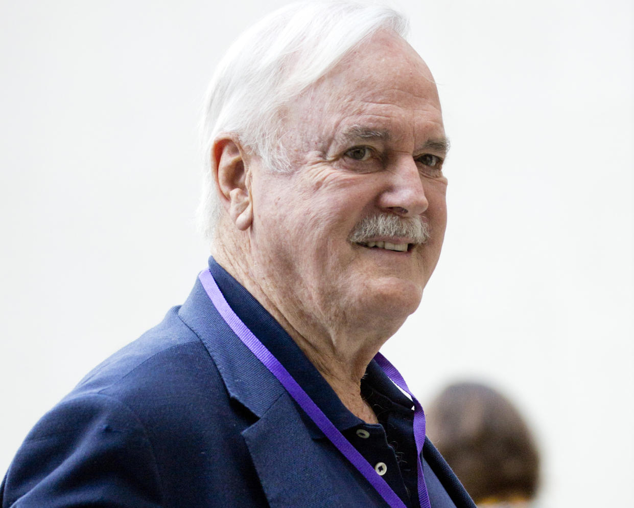 Actor John Cleese arriving at BBC Broadcasting House ahead of his appearance on The One Show in London. (Photo by Isabel Infantes/PA Images via Getty Images)