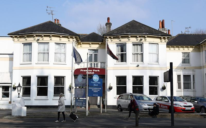 The Preston Park hotel in Brighton, where Masood stayed the night before his attack - Credit:  Bryn Lennon