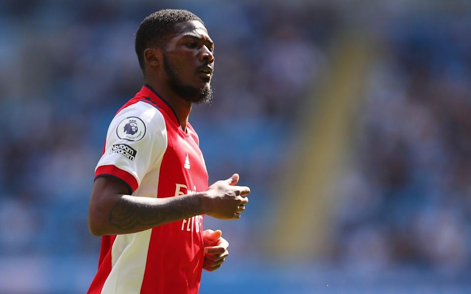 Ainsley Maitland-Niles of Arsenal during the Premier League match between Manchester City and Arsenal at Etihad Stadium on August 28, 2021 in Manchester, England - Robbie Jay Barratt - AMA