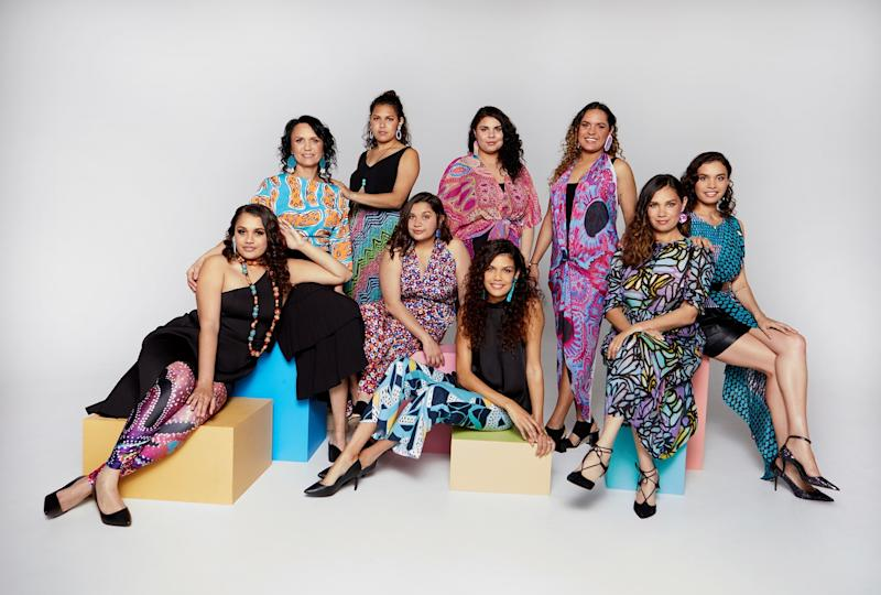 Daniella Rule (second from left) and her nine daughters pose for a photo for the third season of their SBS reality TV show, Family Rules