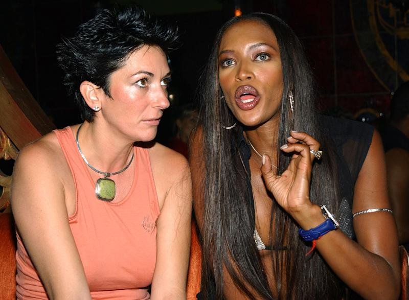 Ghislaine Maxwell and Naomi Campbell in 2002 (Getty Images)