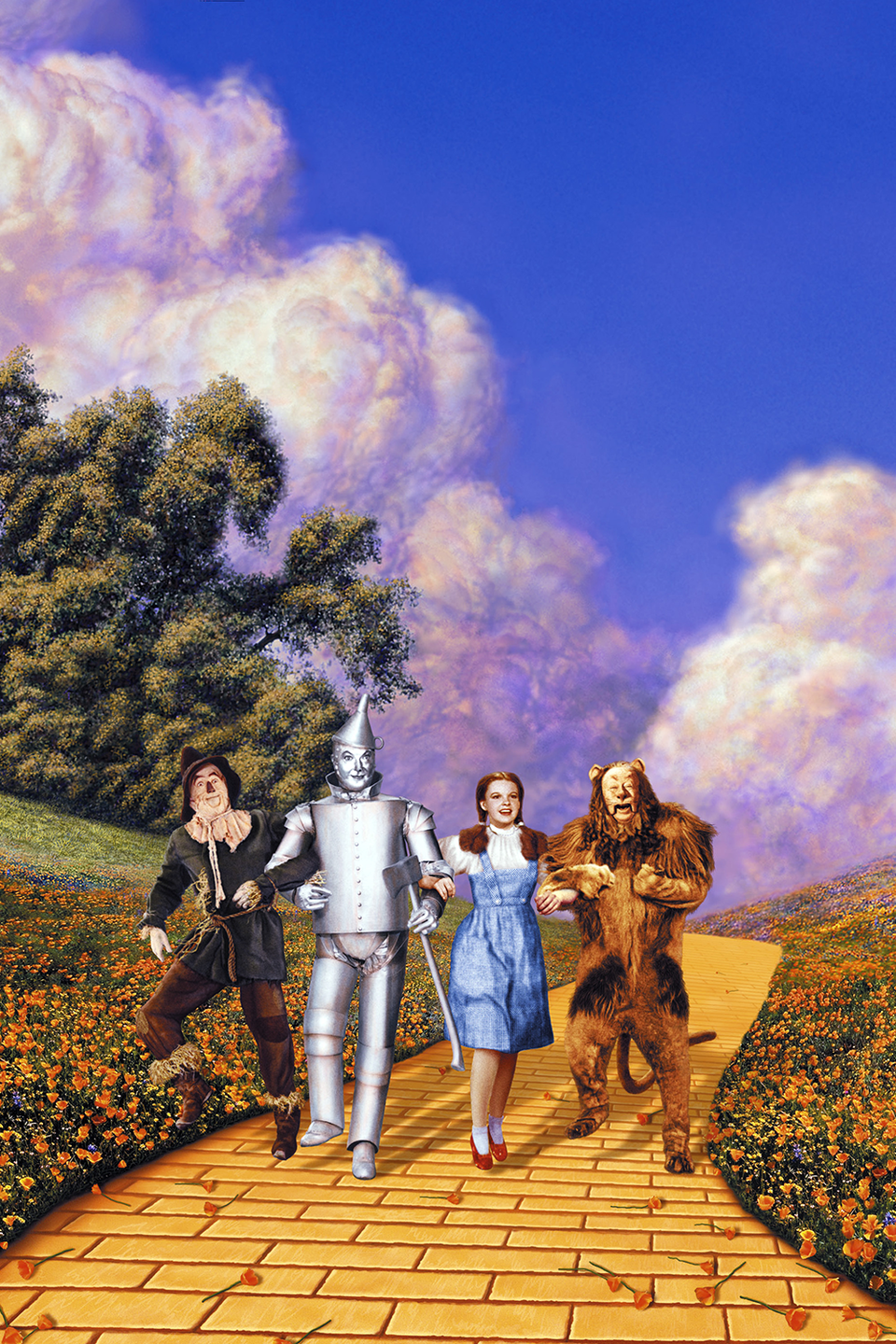 <p>Oz is a fictional place, of course, but the movies starts in Kansas and ends there too (and if you believe that the rest of it only happened in Dorothy's dreams, then Oz is technically Kansas too). </p>