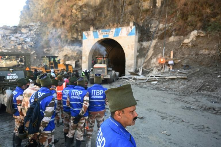 Rescuers have been trying to dig into a tunnel where they hope some of the missing might be trapped in air pockets