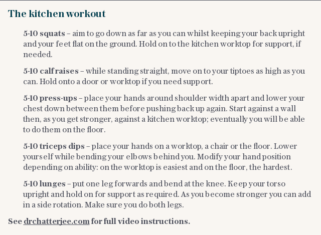 The kitchen workout