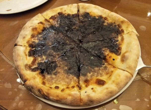 PHOTO: Chocolate pizza is served at the Italian cuisine specialty restaurant, Pyongyang, North Korea, June 19, 2019. (Courtesy Alek Sigley)