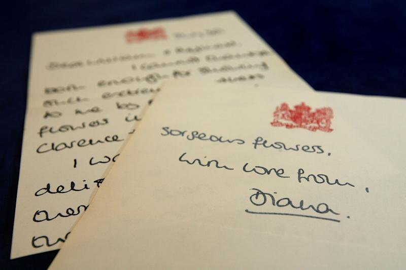 Many of Diana's letters of appreciation have been put up for auction.  (Photo: Cate Gillon via Getty Images)
