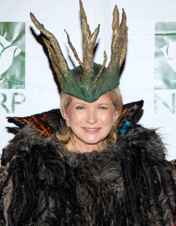 Martha Stewart attends Bette Midler's New York Restoration Project Annual Hulaween at The Waldorf Astoria Hotel in New York City, October 2009. Photo courtesy of Getty Images.