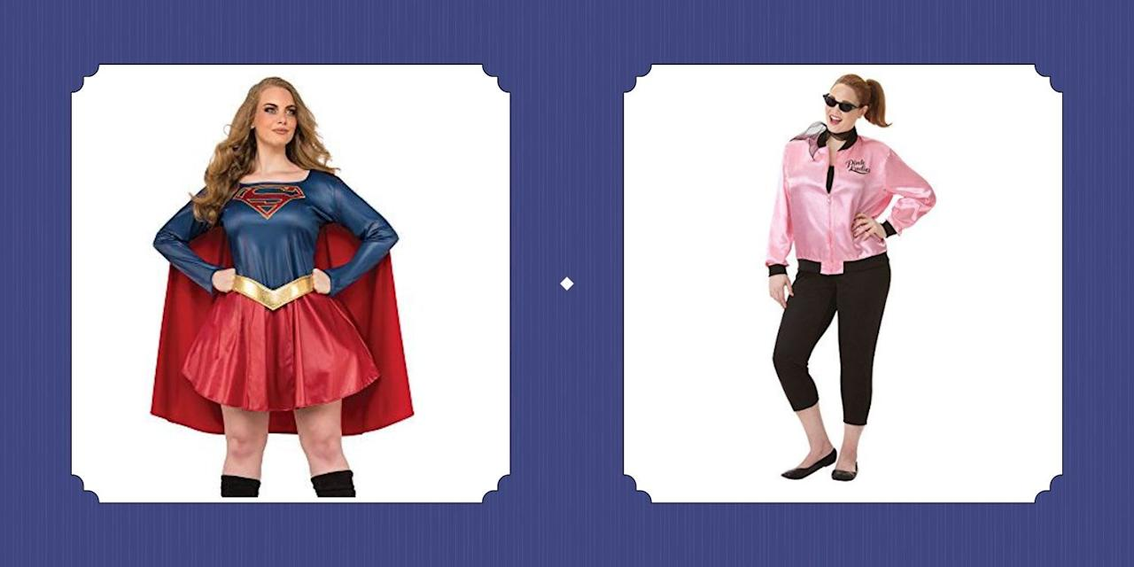 "<p>On the hunt for the perfect <a href=""https://www.countryliving.com/diy-crafts/g4571/diy-halloween-costumes-for-women/"">Halloween costume?</a> Look no further! We've got you covered with the best plus-size Halloween costumes on the market—and the best part is, they're as reasonably-priced and family-friendly as they are cute. Whether you're hoping to transform into Superwoman, don a jacket and dress up as a Pink Lady, or embody one of your very favorite <a href=""https://www.countryliving.com/diy-crafts/g21285858/diy-disney-halloween-costumes/"">Disney characters</a> (the Little Mermaid, anyone?), there's at least one fun idea on our list that'll help you get there. Sure, we're always down for some Halloween-centric crafting, and a <a href=""https://www.countryliving.com/halloween-ideas/"">DIY costume</a> can certainly turn heads. But what we love most about these simple <a href=""https://www.countryliving.com/diy-crafts/g21600836/diy-funny-halloween-costumes/"">costume ideas</a> is the amount of time they'll save you in the long run. Add them to your cart, check out, and you're on your way to a truly showstopping look. And yes, even <a href=""https://www.countryliving.com/diy-crafts/g23785711/last-minute-halloween-costumes/"">last-minute</a> planners can expect to wow their fellow <a href=""https://www.countryliving.com/entertaining/g4620/halloween-party-themes/"">party-goers</a> this year: Nearly all of these Halloween costumes are available on Amazon and ship fast—like, two days fast. Need more inspiration? We've got you covered: Check out our favorite <a href=""https://www.countryliving.com/life/kids-pets/g22119101/diy-princess-costumes"">DIY princess costume options</a>, our most timeless <em><a href=""https://www.countryliving.com/diy-crafts/g22105023/wizard-of-oz-diy-costumes/"">Wizard of Oz</a></em> looks, and our most adorable <a href=""https://www.countryliving.com/diy-crafts/g22473796/50s-costumes/"">'50s get-ups</a>.</p>"