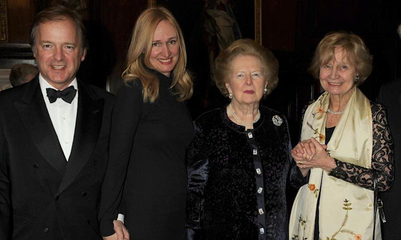 Hugo and Sasha Swire at a charity dinner in 2010 with Margaret Thatcher and Sasha's mother, Lady Miloska Nott