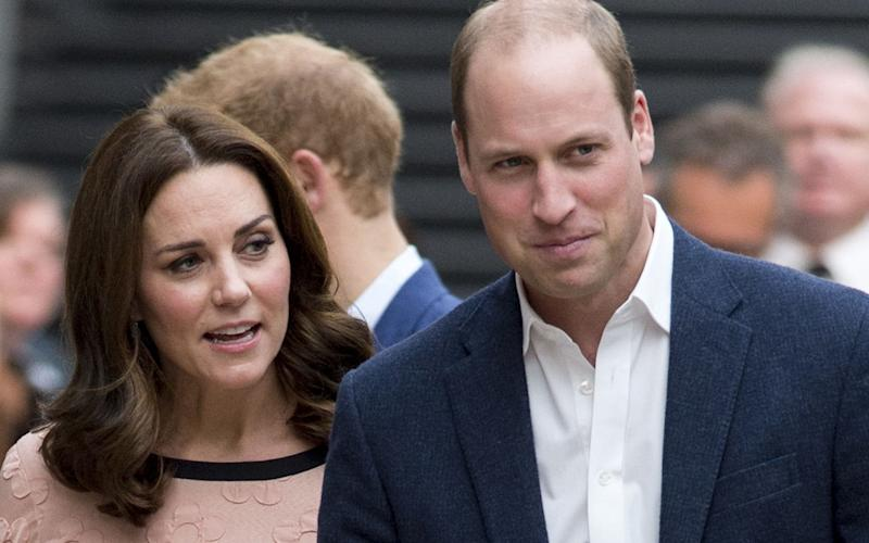 The Duke and Duchess of Cambridge attend a charity event at Paddington Station on Monday - UK Press