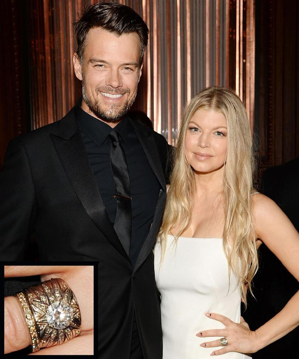 <p>Actor Josh Duhamel proposed to wife Fergie with a 4-carat dazzler in 2007. The couple married in 2009.</p>