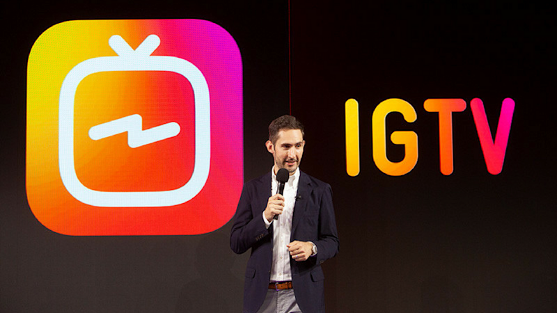IGTV launch at an event in San Francisco. Image: Instagram Press