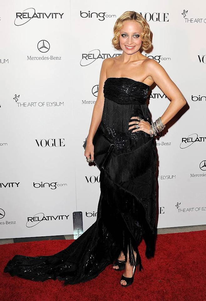 """Paris' former BFF Nicole Richie took a fashion risk by sporting a 1920s-inspired coif and fringed Emilio Pucci frock to the Art of Elysium """"Heaven"""" Charity Gala in L.A. Do you think her look is hot ... or not? Jordan Strauss/<a href=""""http://www.wireimage.com"""" target=""""new"""">WireImage.com</a> - January 15, 2011"""