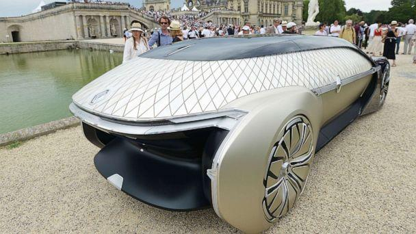 PHOTO: Renault's EZ Ultimo is an autonomous,100% electric robot concept car. It was part of the elegance competition at the Chantilly Arts and Elegance Richard Mille in the courtyard of Chateau de Chantilly, on June 30, 2019 in Chantilly, France. (Frederic Stevens/Getty Images)