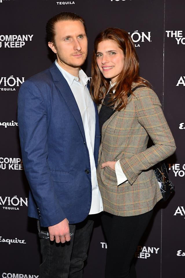 """NEW YORK, NY - APRIL 01:  Artist Scott Campbell and Lake Bell attend """"The Company You Keep"""" New York Premiere at The Museum of Modern Art on April 1, 2013 in New York City.  (Photo by Larry Busacca/Getty Images)"""