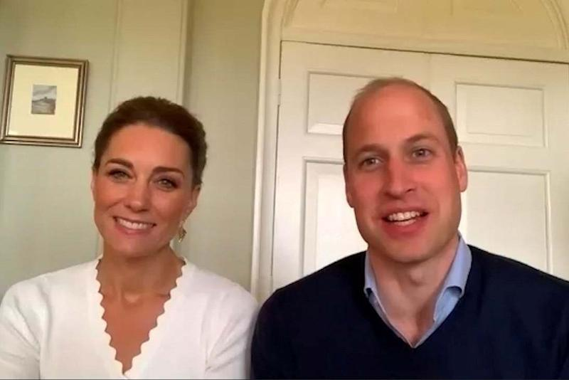 Prince William and Catherine, Duchess of Cambridge speak during a video call regarding their support for mental health initiatives (via REUTERS)