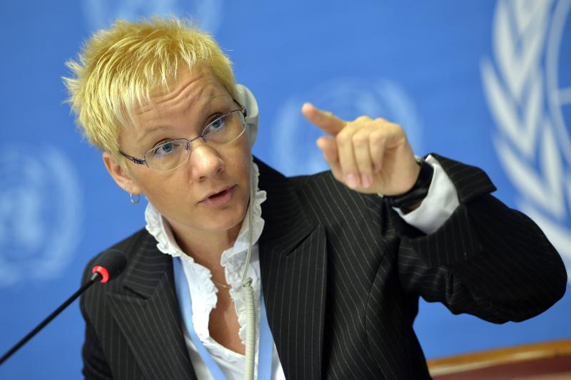 Oksana Tarasova, Scientific Officer at the World Meteorological Organization, WMO, informs the media about the annual greenhouse gas bulletin in the atmosphere during a press conference at the European headquarters of the United Nations in Geneva, Switzerland, Wednesday, Nov. 6, 2013. The U.N. weather agency says concentrations of carbon dioxide pollution in the atmosphere have accelerated and reached a record high in 2012. WMO says carbon dioxide was measured at 393.1 parts per million last year, up 2.2 ppm from the previous year. (AP Photo/Keystone, Martial Trezzini)
