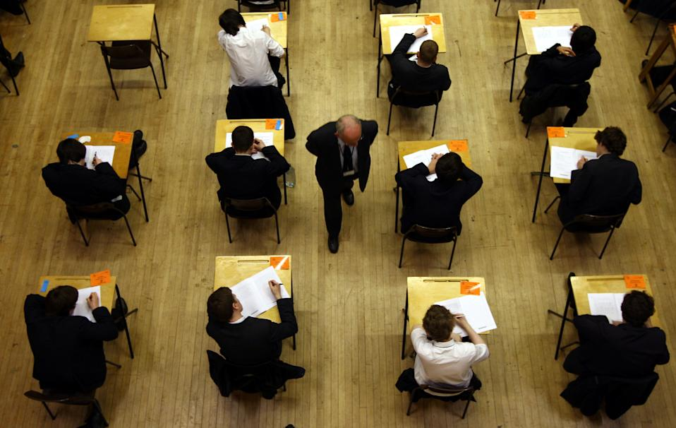 "File photo dated 07/03/12 of a general view of pupils sitting an exam. Education Secretary Gavin Williamson has outlined the steps the Government is taking to ensure students are not ""disadvantaged"" in next year's examinations."