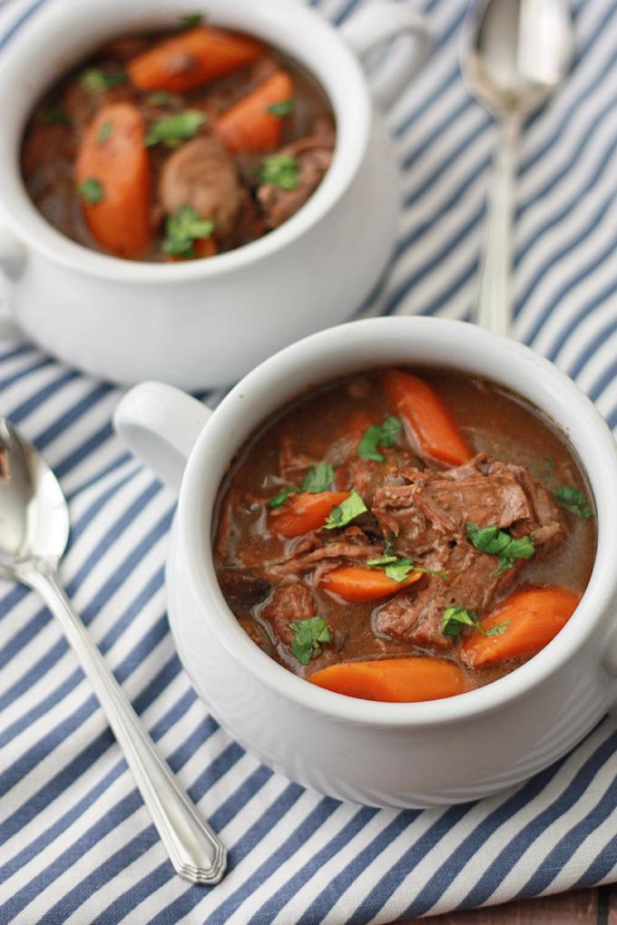 """<p>Some would argue there is no better way to cook beef than in a slow cooker. The slow cooking process allows the beef to marinate, producing a much more tender and tasty final product. Beef stew that includes some of your favourite root vegetables is the perfect autumn comfort food. And it's been proven: comfort food tastes best when it takes less than 20 minutes to prepare. <i>(Photo/recipe via <a href=""""http://www.onelovelylife.com/slow-cooker-beef-stew/"""" rel=""""nofollow noopener"""" target=""""_blank"""" data-ylk=""""slk:One Lovely LIfe"""" class=""""link rapid-noclick-resp"""">One Lovely LIfe</a>)</i></p>"""