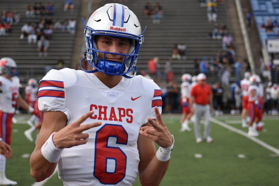 Cade Klubnik led Austin Westlake High School to the Texas 6A Division I state championship as a junior this past season, guiding the Chaparrals to a 14-0 mark while passing for 3,495 yards and 35 touchdowns to pair with583 rushing yards and 15 touchdowns.