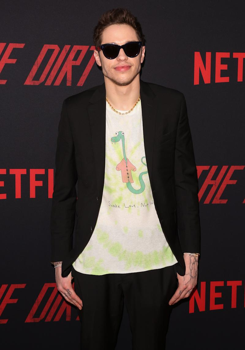 "Actor Pete Davidson attends the Premiere Of Netflix's ""The Dirt"" at ArcLight Hollywood on March 18, 2019 in Hollywood, California. (Photo by Paul Archuleta/FilmMagic)"
