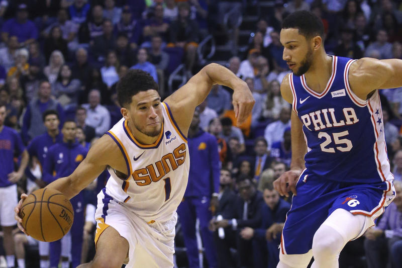 Devin Booker helps Phoenix Suns end Philadelphia 76ers' unbeaten run