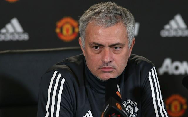Jose Mourinho of Manchester United speaks during a press conference at Aon Training Complex on December 29, 2017 in Manchester, England - Manchester United