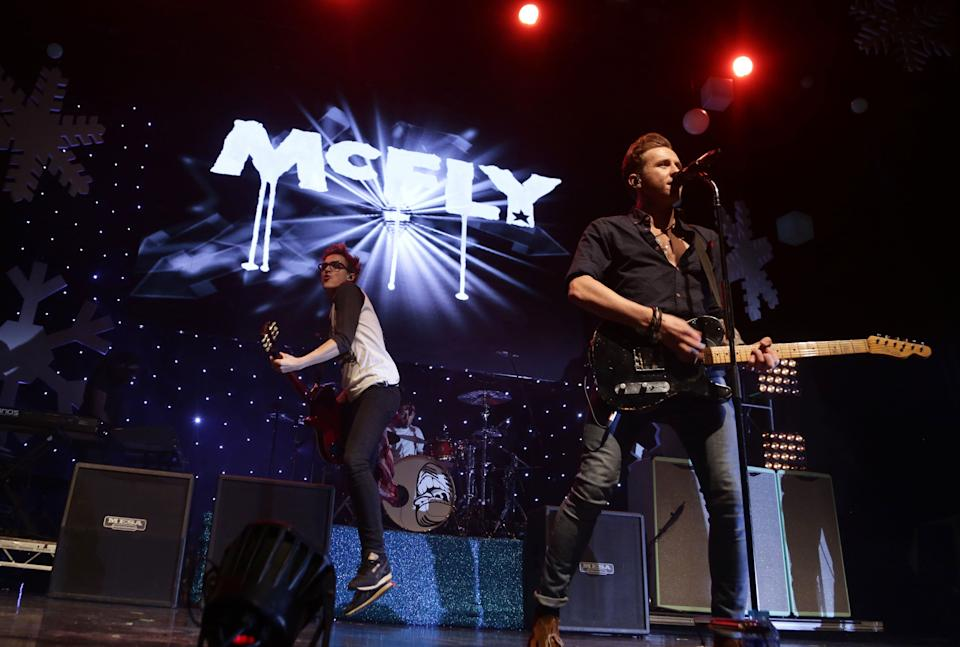 Tom Fletcher and Danny Jones of McFly performing at Magic FM's Magic Sparkle Gala at the IndigO2, at the O2 Arena, London.