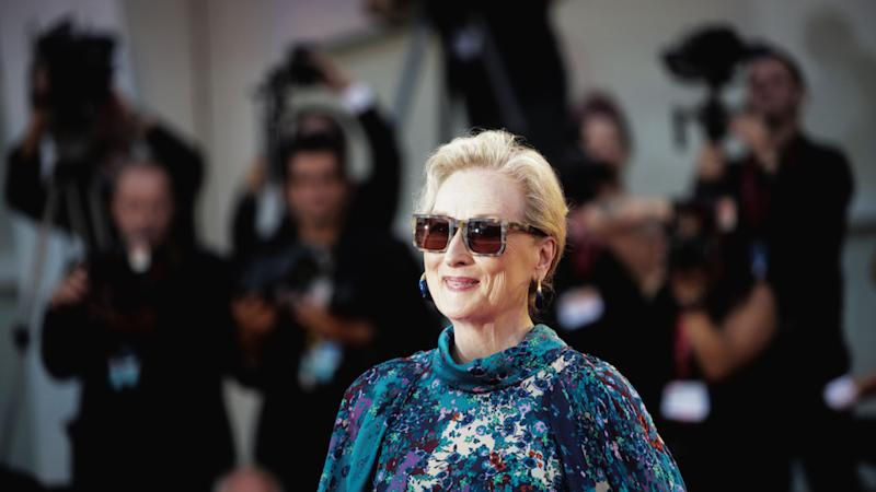 Meryl Streep Wearing Huge Sunnies and a Givenchy Gown on 'The Laundromat' Red Carpet Is Truly Iconic