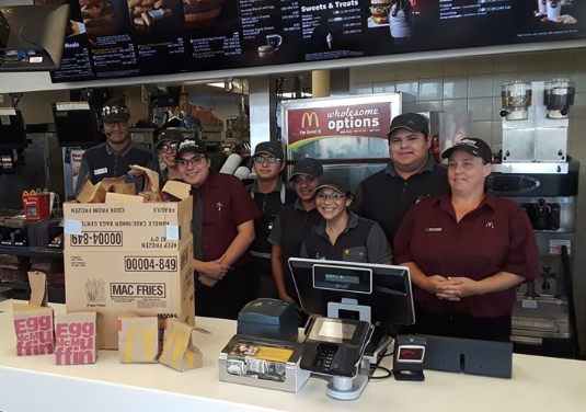 People are thanking McDonald's crew members for their eagerness to prepare an order to distribute to the homeless (Credit: Facebook)