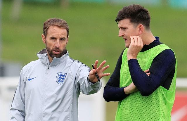 Gareth Southgate, left, performed a U-turn on Maguire's selection