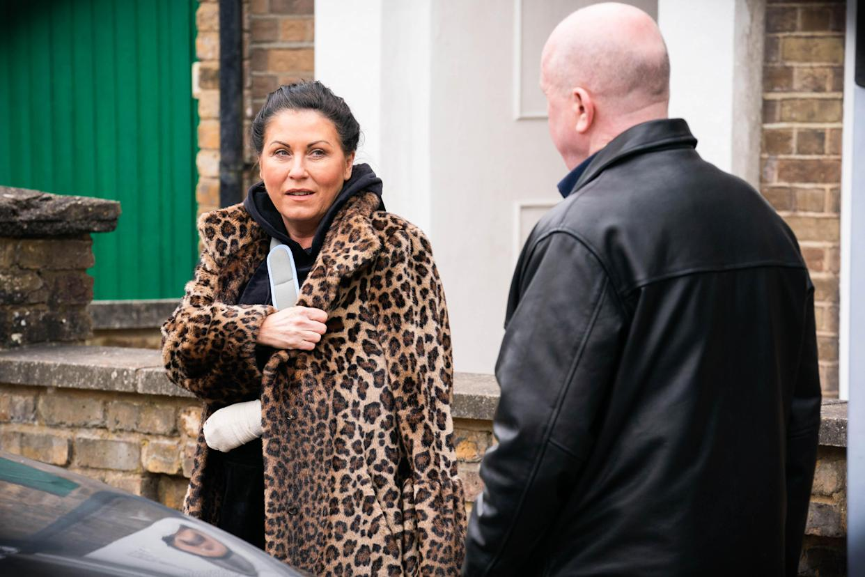 WARNING: Embargoed for publication until 00:00:01 on 18/05/2021 - Programme Name: EastEnders - April-June 2021 - TX: 24/05/2021 - Episode: EastEnders - April-June 2021- 6277 (No. 6277) - Picture Shows: ***EMBARGOED TILL TUESDAY 18TH MAY 2021*** Kat Moon (JESSIE WALLACE), Phil Mitchell (STEVE MCFADDEN) - (C) BBC - Photographer: Kieron McCarron/Jack Barnes